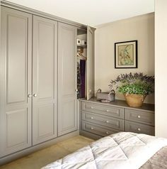 Artisan bedroom built in wardrobes and furniture