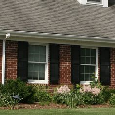 Pair of exterior vinyl shutters including hardware Outdoor Decor, Home, House Exterior, Louvered Shutters, Exterior Vinyl Shutters, Renter, Rent To Own Homes, Rent, Curb Appeal