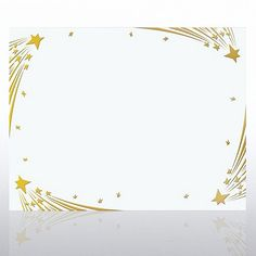 Foil Certificate Paper - Shooting Stars - White Certificate Frames, Award Certificates, Certificate Design Template, Alphabet Templates, Star Template, Arts Award, Borders And Frames, Nouvel An, Foil Stamping