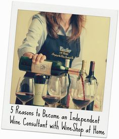 5 reasons to become an independent wine consultant with WineShop at Home. Join my team! #wine #wineissocial