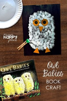 Owls Kindergarten, Kindergarten Art Projects, Kindergarten Activities, Classroom Art Projects, Owl Crafts Preschool, Baby Crafts, Owl Babies, Baby Owls, Owl Activities
