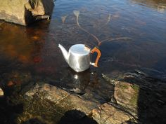Iced tea!  Beautiful on Islay this morning, but chilly! The burn and the rockpools have a thin layer of ice.