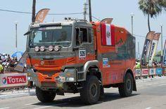 LED verlichting op de truck van Staalbouwexpress race Paris Dakar 2013