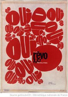 [Mai 1968]. Oui à la Révolution, Comité d'action des publicitaires : [affiche] / [non identifié] - 1