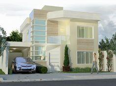 Fachadas de casas de sobrados - veja 50 modelos lindos! - DecorSalteado