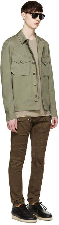 Belstaff: Green Sampson Shirt Jacket | SSENSE