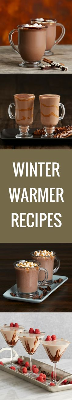 Rich hot cocoas, mochas with a touch of caramel, and martinis with a winter flair—these Winter Warmer Recipes are really why the season exists.