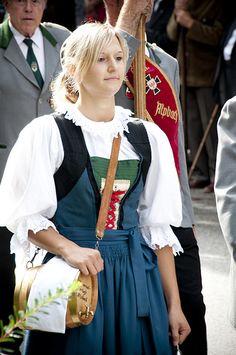 Catholic volksfest (festival) in #Alpbach, Austria.