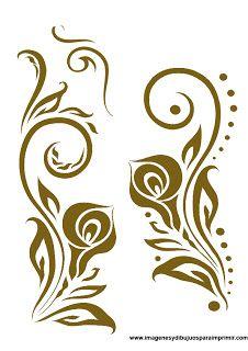 Cenefas con flores pinturas pinterest garabatos y - Cenefas para dibujar ...