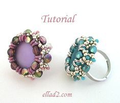 Tutorial Pinch Ring - Beading Tutorial, Beading Pattern, Instant download, PDF, Jewelry Tutorial