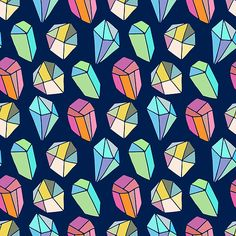 Colorful Abstract Diamonds Seamless Pattern