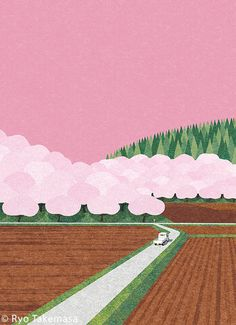 Ryo Takemasa is a Japanese illustrator based in Tokyo. He graduated from Musashino Art University. Landscape Illustration, Graphic Design Illustration, Landscape Art, Illustration Art, Night Sky Photos, Beautiful Drawings, Illustrations And Posters, Cute Art, Pop Art
