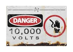 Jurassic Park: Danger 10000 Volts Metal Sign by TheSlothBrain Fête Jurassic Park, Jurassic World, Lightning Bug Crafts, Park Swings, Fence Signs, The Lost World, Trunk Or Treat, Dinosaur Party, Metal Signs