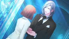 Camus in a suit with Haruka