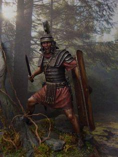Optio Romano - Gallia I-II sec. - Virtual Museum of Historical Miniatures Rome History, Ancient History, Art History, European History, Ancient Aliens, American History, Imperial Legion, Soldier Tattoo, Roman Centurion