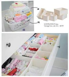 Salt & Pepper: IDEA : Organizing Baby Stuff