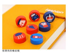 18 Pc I Love London British Style Erasers Set Kids Rubbers Party Gift Bag Fillers