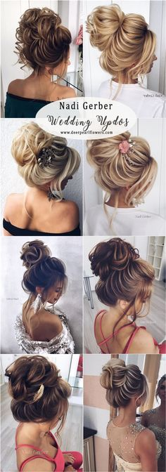 Nadi Gerber high updos wedding hairstyles