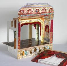 Whimsical miniature toy theatre.