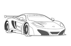 Mclaren Car Coloring Pages Sketch Coloring Page Race Car Coloring Pages, Free Adult Coloring Pages, Coloring For Kids, Cool Car Drawings, Colorful Drawings, Maclaren Cars, Peppa Pig Memes, Car Silhouette, Girl Face Drawing