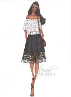 Fashion Illustration Print Street Flair by MMichelIllustration
