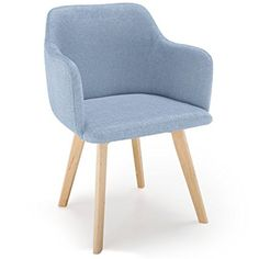 Chaise style scandinave Candy Tissu Bleu