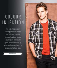 Colour Injection - add some pop to your plaid at bootlegger.com