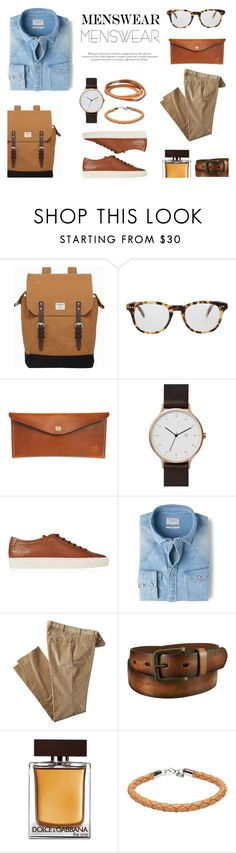 """""""Mens Wear"""" by canvas-moods ❤ liked on Polyvore featuring Sandqvist, Cutler and Gross, Red Clouds Collective, Common Projects, MANGO, Uniqlo, Dolce&Gabbana, A.P.C., men's fashion and menswear"""