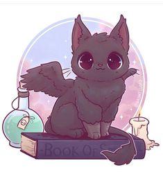 Ideas Cats Anime Kawaii Cute Animals For 2019 Cute Kawaii Animals, Cute Animal Drawings Kawaii, Kawaii Cat, Kawaii Chibi, Kawaii Anime, Pet Anime, Anime Animals, Mythical Creatures Art, Cute Creatures