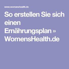 So erstellen Sie sich einen Ernährungsplan » WomensHealth.de Fitness Workouts, Yoga Fitness, Fitness Motivation, Health Fitness, Juice Diet, Weight Loss Smoothies, Eat Right, Healthy Tips, Detox