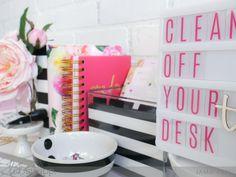 National Clean Off Your Desk Day with Heidi Swapp Lightbox by Jamie Pate| @jamiepate for @heidiswapp