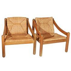 "Vico Magistretti for Cassina ""Carimate"" Lounge Chairs"