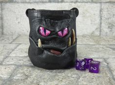 Fairy Pouch Dice Marble Bag With Face RPG LARP by Pippenwycks