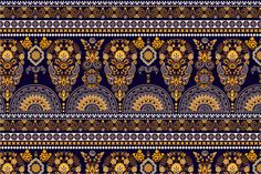 Golden Indian Seamless Wallpaper by Sunny_Lion on @creativemarket