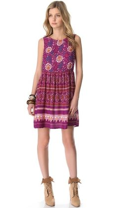 MINKPINK Bohemian Mini Dress - I HAVE to get this dress - so easy and cute with a pair of suede booties for spring!