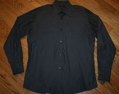 GUCCI long-sleeve button-down casual cotton Shirt Men's size 41/16 Made in Italy #Gucci #ButtonFront