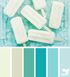 Iced summer - colour pallet