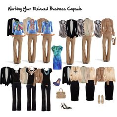 """""""working your relaxed business capule"""" by imogenl on Polyvore"""