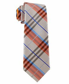 Perry Ellis Tie, Wooster Plaid - Ties & Pocket Squares - Men - Macy's