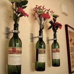 Be Creative with Old Wine Bottles After you drink the wine, what the heck can you do with the wine bottles. Quite a lot, actually. And wine barrels make great DIY project too. Here are some DIY Wine bottle ideas; let us know which project you will try.
