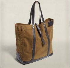 RRL CANVAS LEATHER TOTE