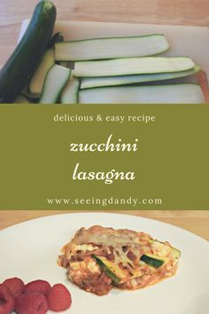 This zucchini lasagna is delicious and easy to make. The recipe incorporates bacon and it's gluten free! #recipe #lasagna #zucchini #foodie #nomnomnom #meals #maindish #momlife #recipes #glutenfree #dinner #dinnerisserved Easy Potato Recipes, Yummy Pasta Recipes, Dinner Recipes Easy Quick, Easy Meals For Kids, Easy Delicious Recipes, Side Dish Recipes, Vegetarian Recipes, Healthy Recipes, Savoury Recipes