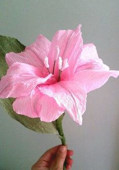 Crepe paper flower. Pink by FlowerVoyageBoutique Paper Flowers Craft 8e6f1d21906