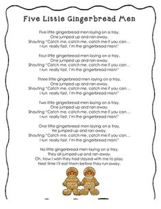 A poem for your studies on Gingerbread Men. Practice reading each day to build fluency. Gingerbread Man Song, Gingerbread Man Activities, Gingerbread Crafts, Christmas Gingerbread Men, Gingerbread Houses, Christmas Poems, Christmas Concert, Preschool Christmas, Christmas Activities