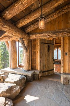 Pearson Design Group | Rustic Entrance..love that door!