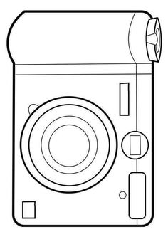 Coloring Page camera - free printable coloring pages Free Coloring Sheets, Coloring Pages To Print, Coloring Book Pages, Adult Coloring, Camera Crafts, Art For Kids, Crafts For Kids, Teaching Materials, Paper Toys