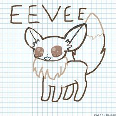 Eevee, V, F and J - FlipAnim All Eeveelutions, Rip Hunter, Cute Pokemon Pictures, Cute Pokemon Wallpaper, Cute Love, Fnaf, Animation, Drawings, Fictional Characters