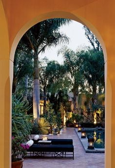 Lushly Planted Courtyard - Villa in Ajijic, Mexico. Rebuilt by Norma King, and her husband, architect John King.