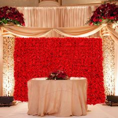 """Artificial 24"""" X 16"""" Inches Red Roses Panel. Suggested Uses Include Backdrop Photography, Garden Decor, Wedding Decorations, Flower Crafts and Landscaping. -- Don't get left behind, see this great product offer  : Artificial Plants Decor"""