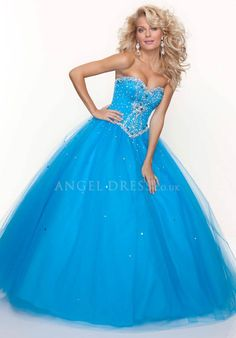 Tulle Floor Length Sweetheart Natural Waist Ball Gown Dresses For Prom